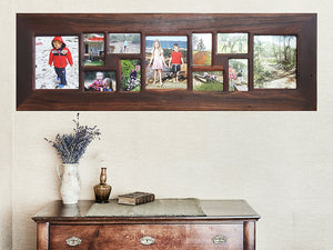 Eco Friendly Photo frame for 11 pictures Handmade to order Recycled Timber Frames Australia