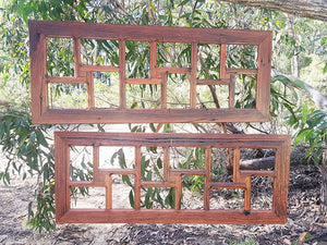 12 opening multi collage family photo frames in Brown Gum and Red Gum handcrafted in Australia in Recycled Timber