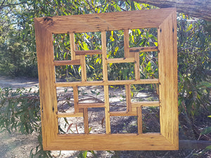 Square 16 opening Multi Photo Frame made with Eco Friendly Recycled Timber at Wombat Frames Australia