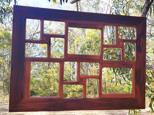Best Handmade Australia  Recycled Timber Photo Frame Selection of Red Gum Multi Photo Collage Frames