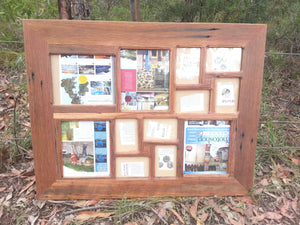Custom Recycled Timber Collage Frame With 12 Openings