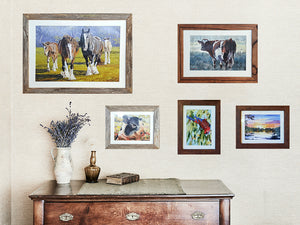 2cm wide single frame collection Australian made recycled timber photo frames