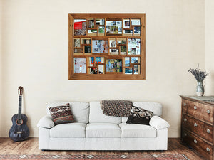 Family photo frames made out of Australian recycled native timbers for 30 pictures