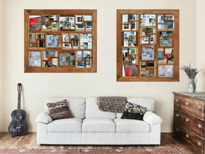 Gallery Photo Frames Australian Multi Collage 30 pictures made with Eco Friendly Recycled Timber