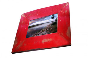 Bright Red Painted Wooden Photo Frame, Single Frame made in Australia