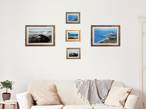 Selection of narrow frames in Australian recycled timber with mat
