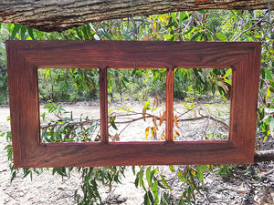 Recycled Timber Redgum 3 opening multi collage photo frames custom framed in Australia