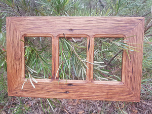 Australian Brown Gum 3 opening Multi Collage Picture Frame made to order at Wombat Frames
