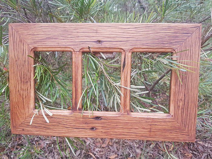 3 opening Multi Photo Frame made using Australian Recycled Browngum