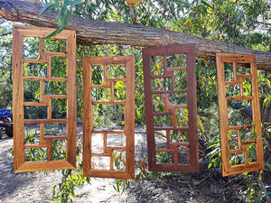 12 opening and 9 opening Eco Friendly Recycled Timber Multi Opening Picture Frames at Wombat Frames Australia