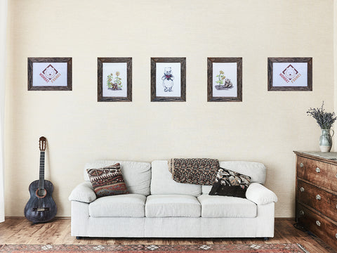 Rustic Fence Paling look recycled timber picture frames