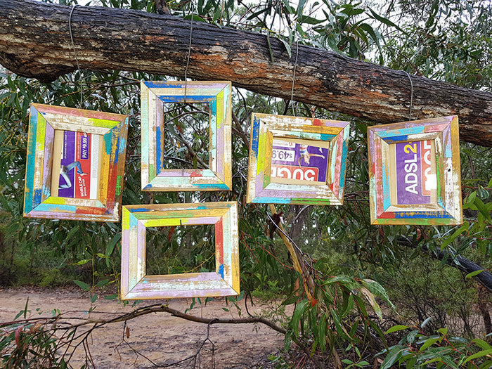 Wombat Happy Frames Single Colourful Recycled Timber Photo Frames