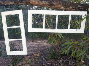 Hand made recycled timber White multi frames made to order at Wombat Frames