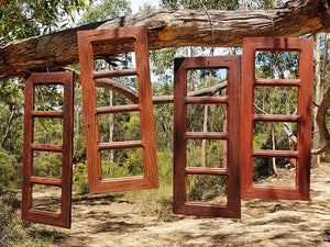 Australian made Eco Friendly Recycled Timber Family Photo Collage Frames 4 openings