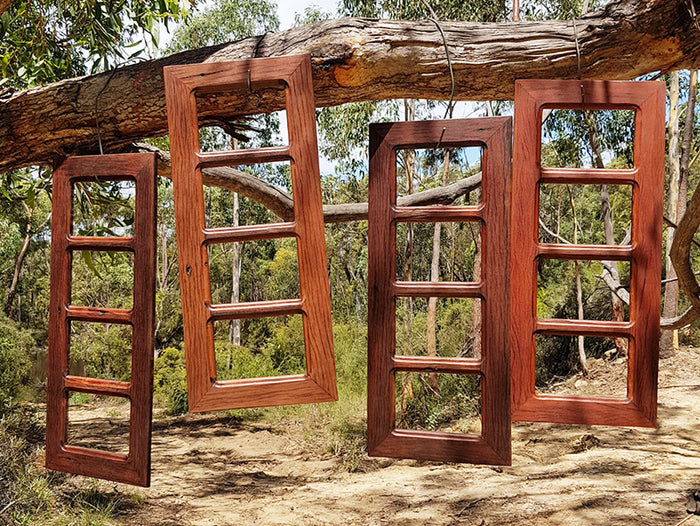 Australian made Recycled Brown Gum Multi Picture Frame with 4 photos.