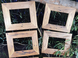 Australian Handmade recycled timber single picture frames in brown gum size A4