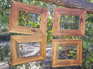 Single Brown Gum Frames made using Recycled Timbers for the sustainable home