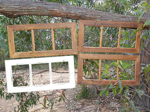 Recycled Timber Brown Gum and Vintage White 3 opening family photo frames in all sizes