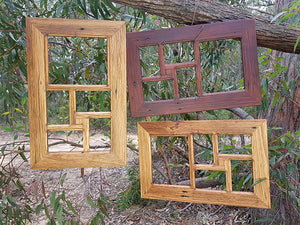 Eco Friendly Australian Recycled Timber 5 opening Family Photo Collage Frames at Wombat Frames Australia