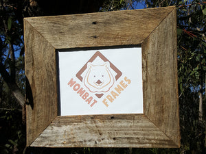 Rustic Grey Fence look Australian made single photo frame in all sizes