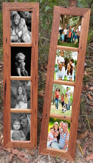 Australian brown gum handmade recycled timber 4 opening window photo frame