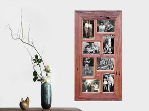 Authentic Australian Eco Friendly Recycled Timber Family Collage Frame for 8 pictures