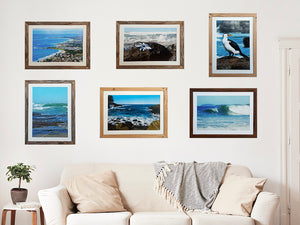 Ocean photography by Mariah Cula in recycled timber photo frames