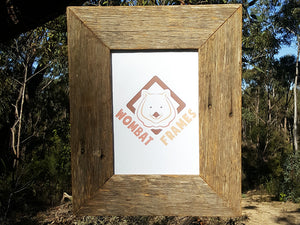 Rustic photo frames made to order in any size Wombat Frames Australia