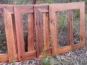 Family photo frames made out of Australian recycled native timbers