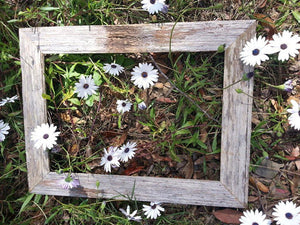 7cm wide rustic fence paling grey recycled timber photo frame Australian made