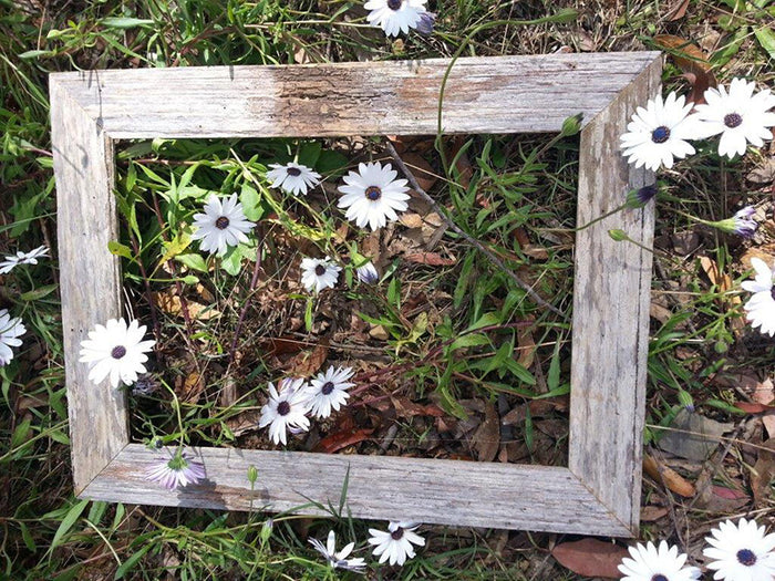 7 cm wide Rustic Grey Fence Look Recycled Wood Single Photo Frame