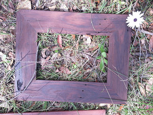 A4 size Brown gum Picture Frame made with Authentic Australian Eco Friendly Recycled Timber