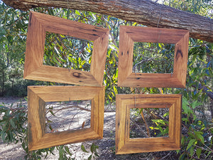 A4 Single and 10x8 Single Brown Gum Eco Friendly Recycled Timber Photo Frames