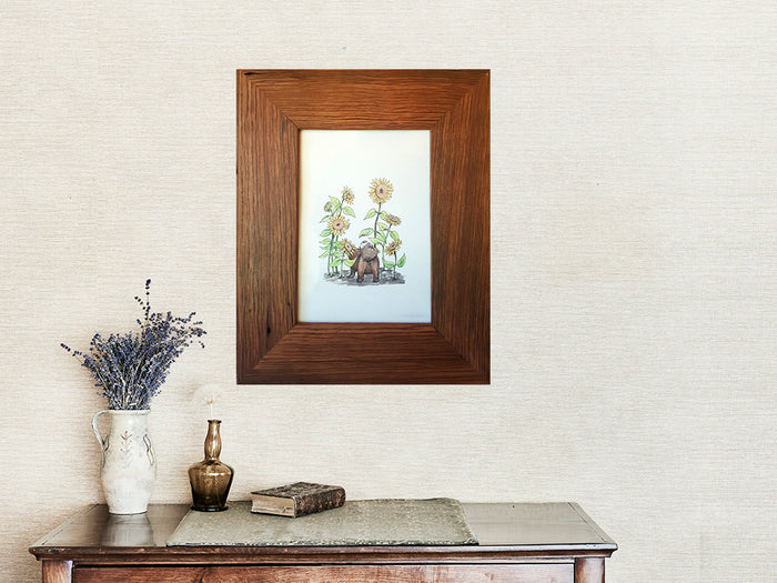 A4 Single Recycled Timber Photo Frame in Australian Brown Gum
