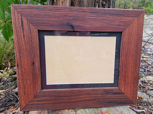 Single Photo Frame with Black mat in Eco Friendly Recycled Australian Timber.