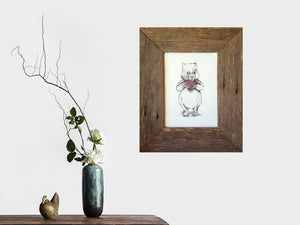 A4 Single Weathered Rustic Grey Fence look Eco Friendly Recycled Australian Timber A4 Single Photo Frames
