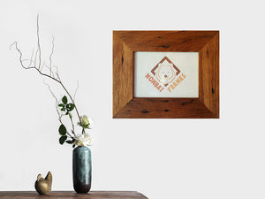 9cm wide Rustic Brown Gum recycled timber single frames made to order in Australia