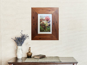 Australian handmade recycled timber photo frame in Brown gum with nailholes