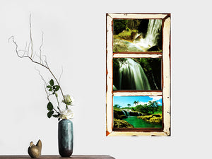 Vintage Multi Picture Frame for 3 Photos custom made in Old Architrave