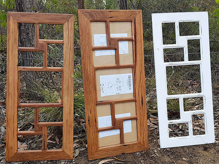 Recycled Timber Multi Picture Photo Frame with 8 normal and 1 enlargement slots
