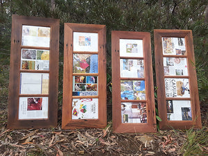 Unique Multi Photo Frames handmade to order using Recycled Australian Timber