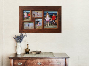 Eco Friendly  Authentic Australian Recycled Timber 5 opening Family Photo Multi Frame