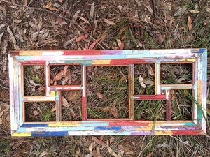 Wombat Happy Frames 9 opening Bright Colours unique Picture Frames made in Australia