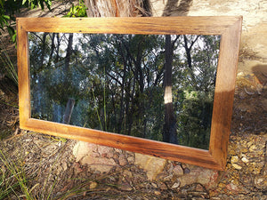 Australian Brown Gum handcrafted Feature-Mirror-made-with-Eco-Friendly-Recycled-Timber-in-Australia