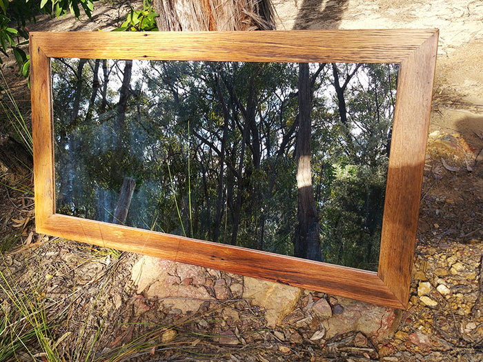 Australian Recycled Timber Brown Gum handcrafted Feature Mirror.