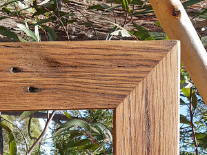 Upcycled Brown Gum frame for Custom Framing and Mirrors at Wombat Frames