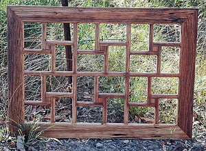 Authentic Australian Eco Friendly Repurposed Timber Family Collage Frame for 24 pictures