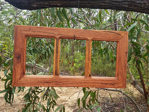 Australian Brown Gum 3 opening picture frame for photo enlargements Eco Friendly Custom Framing
