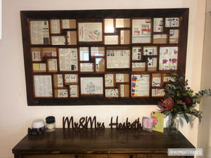 Customer Photo of our largest multi size photo collage frames for family photos