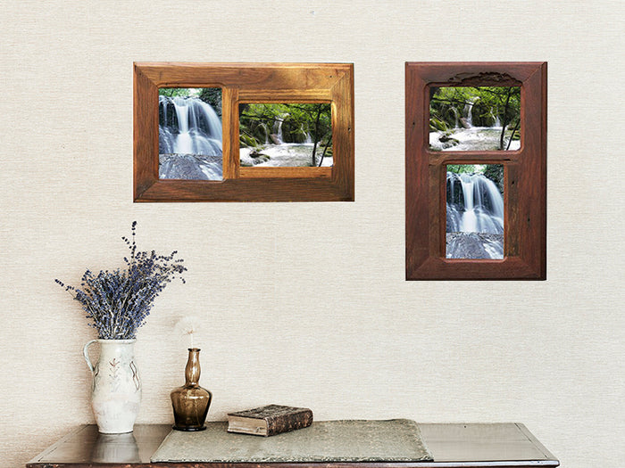 Rustic Timber 2 Multi Photo Frames